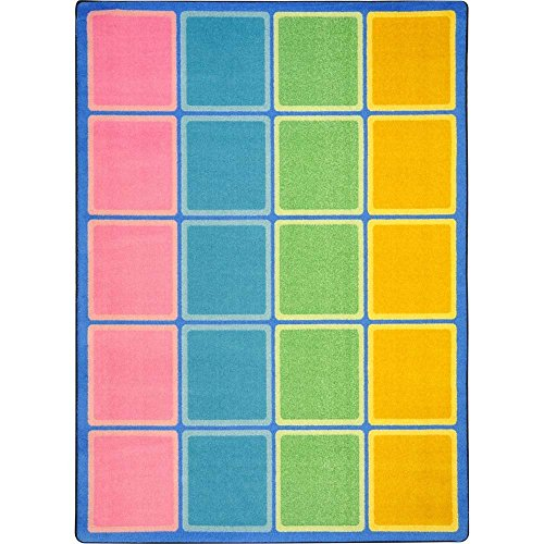 "Joy Carpets Kid Essentials Early Childhood Blocks Abound Rug, Pastel, 5'4"" x 7'8"" from Joy Carpets"
