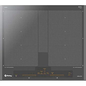 Balay 3EB960AU hobs Titanio Integrado Sin - Placa (Titanio, Integrado, Sin placa de inducción, 3300 W, Rectangular, 225 x 380 mm)