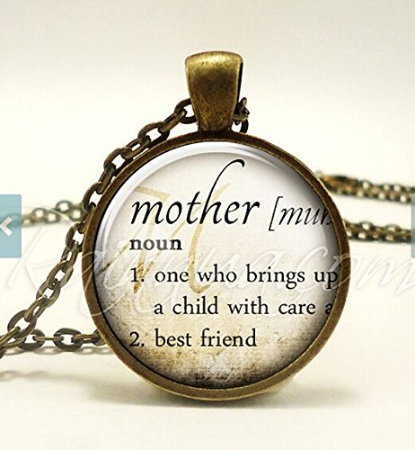 Mothers Necklace Dictionary Definition Pendant