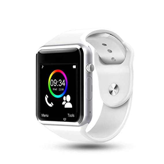 SZPZC-A Bluetooth Smart Watch Hombres Mujeres con Pantalla Táctil ...
