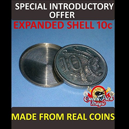 (10 CENT AUSTRALIAN EXPANDED COIN SHELL / MADE FROM REAL COINS! PREMIUM)