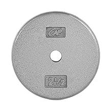 CAP Barbell Standard 1-Inch Cast Iron Weight Plate, Grey, Single