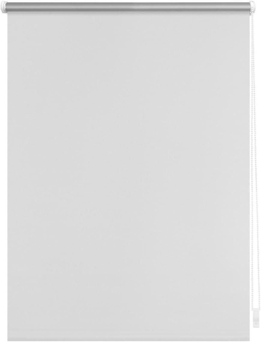 SEILZUGHALTER THERMOROLLO VERDUNKLUNGSROLLO 45x150 cm WEISS FENSTERROLLO MIT THERMOBESCHICHUNG 100/% ABDUNKLUNG INKL