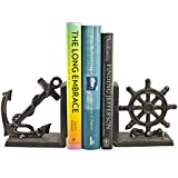 2-Pc Nautical Iron Bookend Set