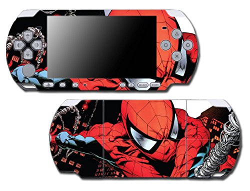 Spider-Man Spiderman Comic Movie Video Game Vinyl Decal Skin Sticker Cover for Sony PSP Playstation Portable Slim 3000 Series System