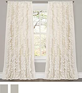 Amazon Com Lush Decor Belle Curtain 84 X 54 Inches