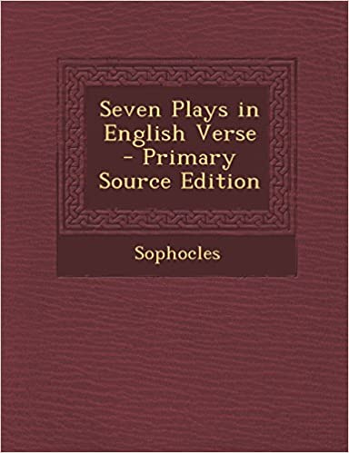Book Seven Plays in English Verse - Primary Source Edition