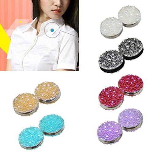 Qlychee Magnetic Resin Rose Hijab Pins Abaya Clasp Brooch Fashion Shawl Scarf Pins 1 Pair