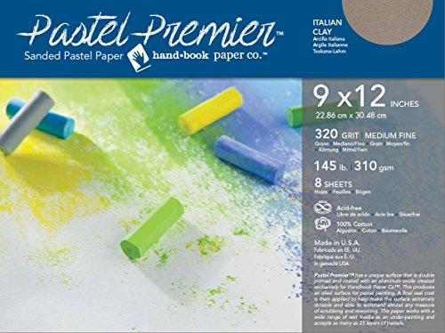 Pastel Premier Paper Med-Fine 9X12 8 Sheet Pk by Handbook Paper