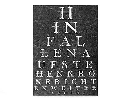 Diseño Vintage pizarra escudo Holzschild se caiga el primer ...