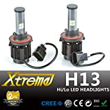Xtreme® All-IN-ONE Patented Design Ultra Bright LED Headlight Conversion Kit (No Ballast Required) - All Bulb Sizes & Color Temperature Covers - Replaces Halogen & HID Bulbs (H13 (9008), Original Temperature Cover Kit)
