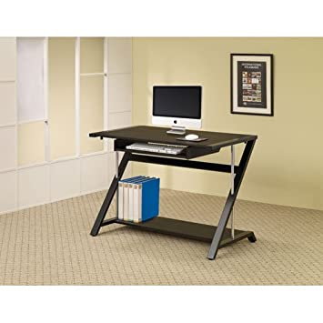 coaster home furnishings contemporary computer desk black amazoncom coaster shape home office computer