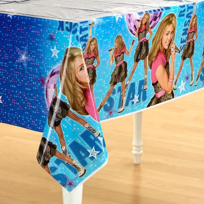 Hannah Montana 54in x 102in Plastic Table Cover (Halloween Hannah Montana Games)