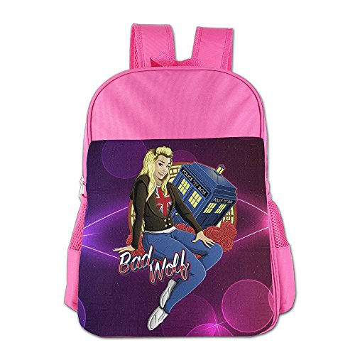 The Bad Wolf Kids School Backpack Bag Pink