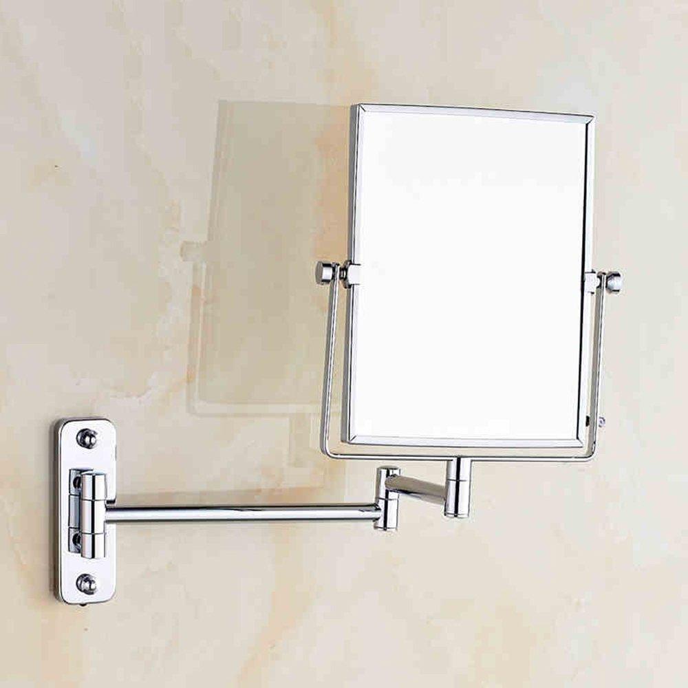 Tragbarer Mini-Spiegel Schönheit Spiegel Badezimmer Doppelzimmer Vergrößern Drehende Teleskop Spiegel, Make-up Spiegel Badezimmer Klappspiegel, Geeignet für Schlafzimmer und Bad (Farbe   Drilling)