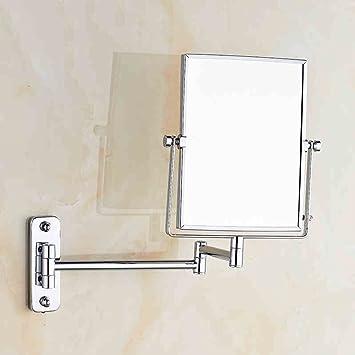 Tragbarer Mini Spiegel Schönheit Spiegel Badezimmer Doppelzimmer Vergrößern  Drehende Teleskop Spiegel, Make Up