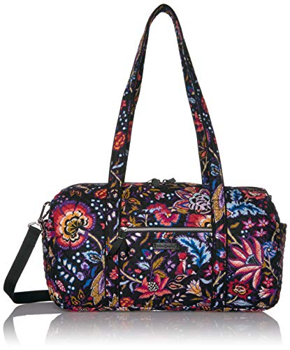 Vera Bradley Women's Vera Bradley Women s Signature Cotton Small Travel Duffel Travel Bag Foxwood One Size, Foxwood, Small 18 US