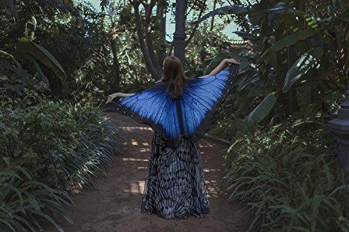 Blue morpho butterfly wings cape, short cloak, scarf