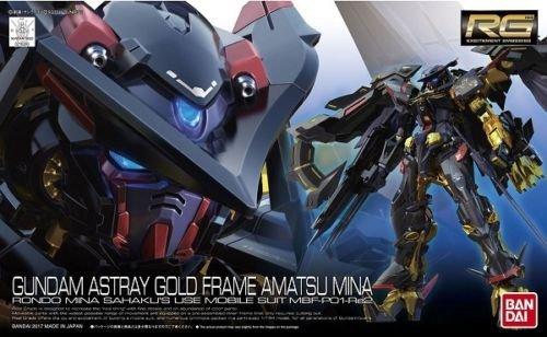 Bandai Hobby RG #24 Gold Frame Amatsu Mina Gundam Seed Astray Model Kit (1/144 Scale)