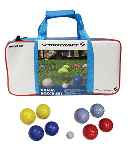 Sportcraft 90mm Molded Bocce Ball Set in Carry - Ball 90 Set