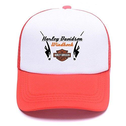 For Mesh Harley Cap Caps Gorras Trucker Black Women béisbol de D Boy Girl Men Hat Baseball Red 011 PPnwgzqSf