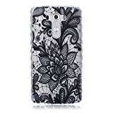 For LG G3 D855 D852 Case Soft TPU Silicone Cases Protective Covers Cell Phone Cover Elegant Flower