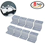 8 Sets - Solar Panel Mount Mounting Z Bracket, Heavy Duty Solar Panel Brackets Mount Mounting with Nuts and Bolts, Solar Panel Accessory for Boat, Roof, Wall and other off Gird Installation