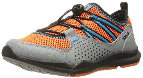 Teva Scamper Trail Shoe , Grey/Orange/Blue, 6 M US Big Kid