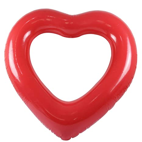 Keepart - Anillo de natación Hinchable con Forma de corazón ...