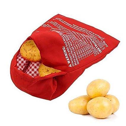Potato Express Microwave Baked Potato Cooking Cooker Washable Bag Useful Pocket