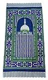 Portable Prayer Mat Thin Cloth Islam Muslim Namaz Sajadah School Camping Backpack Travel Office Sajjadah (Blue)