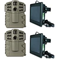 (2) MOULTRIE Game Spy A-5 Gen2 5MP Trail Cameras + (2) Solar Power Panels