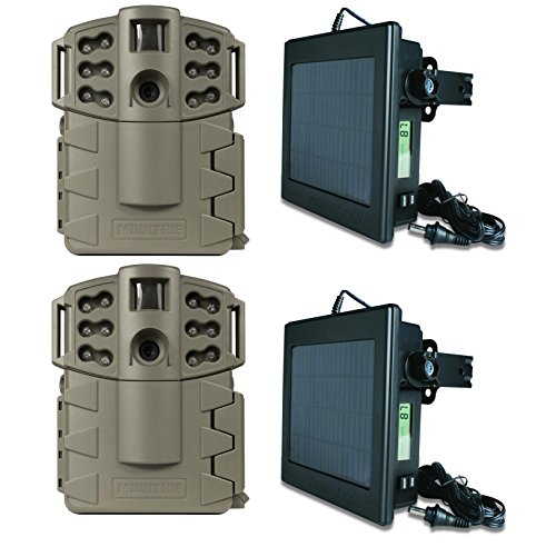 (2) Moultrie Game Spy A-5 Gen2 5MP Trail Cameras w/ (2) Solar Power Panels
