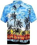#5: La Leela Hawaiian Shirt for Men Short Sleeve Front-Pocket Beach Palm Trees