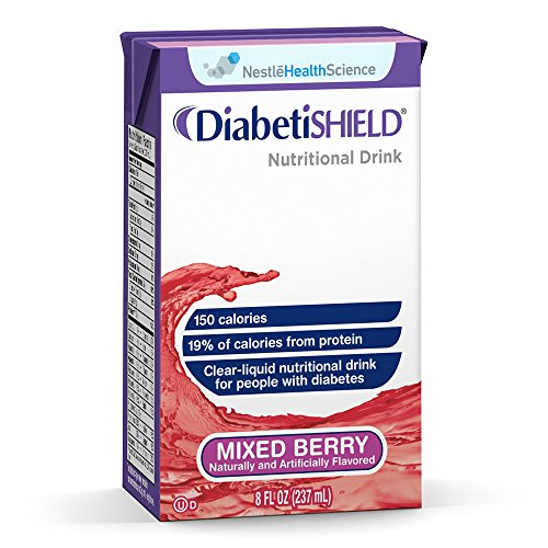 Diabetic Drink (Diabetishield, Nutritional Drink, Mixed Berry, 8 Fluid Ounce (Pack of 27))