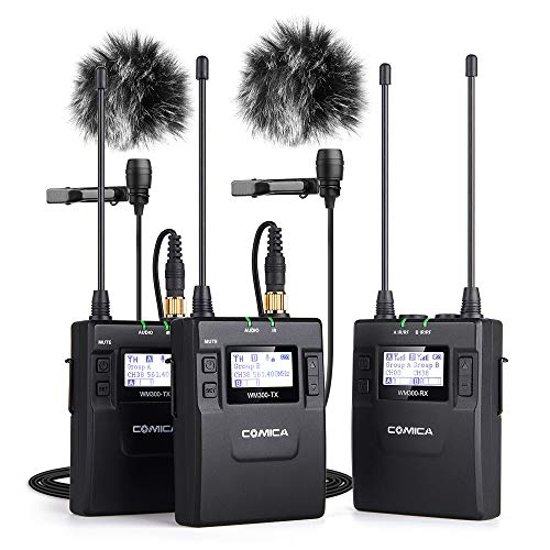 Comica CVM-WM300A 96-Channel Wireless Lavalier Mic System