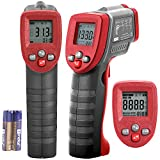 Koeson Professional Non-Contact Digital Laser Infrared Thermometer, Top Accuracy Temperature Gun -58°F~ 1022°F (-50°C ~ 550°C) with HD Backlit LCD Display, Adjustable Emissivity, Firm Grip/ Grey & Red