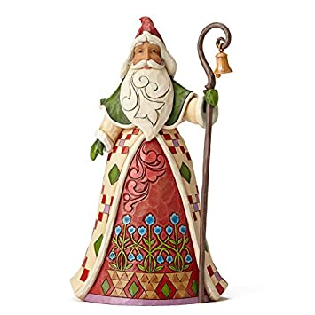 Heartwood Creek Jim Shore Yes He Knows Santa Claus with Cane Christmas Figurine 4053709 HWC New