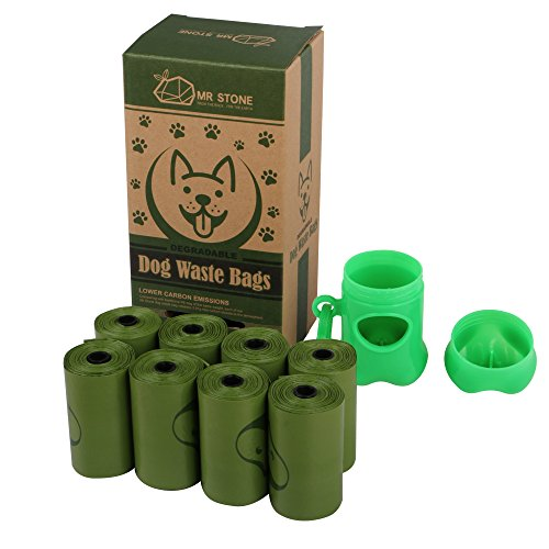 Mr. Stone Dog Waste Bags, Dog Poop Bags, Stone-Made Plastics, Earth Friendly, Refill Rolls, 8 Rolls per 120 Count, 1…