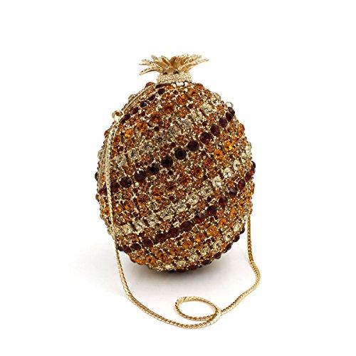 WYB Ananas-Diamant-Abendbeutel / Brautbeutel / hochwertigen Kristall voller Diamanten Abendtasche Obst
