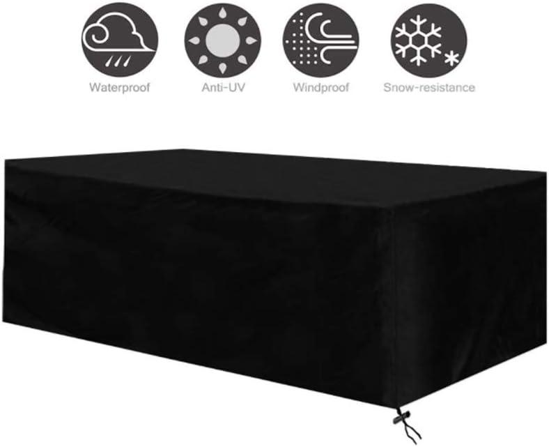 Luayy Gartenmöbel-Set, 210D Oxford-Stoff, wasserdichter UV-Schutz, Terrassenabdeckung, schwarz, Verschiedene Größen zur Auswahl (Size : 250x250x90CM)