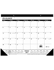 AT-A-GLANCE Desk Pad Calendar 2017, Monthly, Ruled, 21-3/4 x ...
