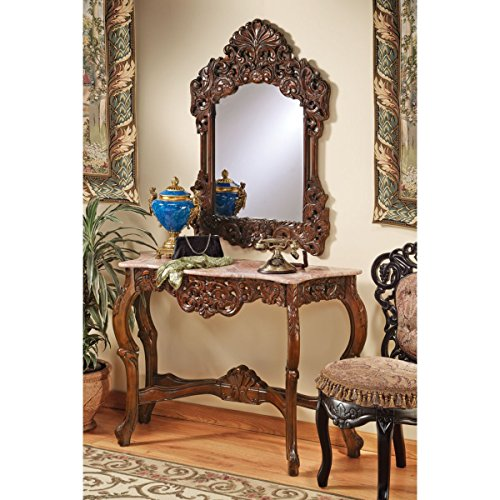 Design Toscano The Dordogne Mirror and Marble-Topped Console