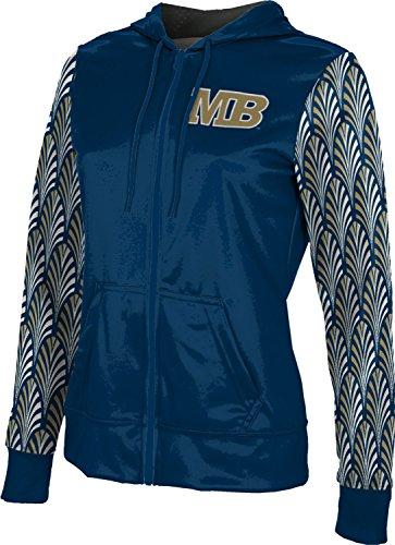 Bay Monterey Women Clothing - California State University Monterey Bay Women's Zipper Hoodie, School Spirit Sweatshirt (Deco) F8182 Blue and Brown
