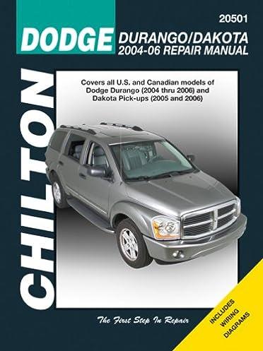 dodge durango 2004 06 dakota pick ups 2005 06 chilton s total car rh amazon com 2005 Dodge Dakota Repair Manual 2010 Dodge Dakota Repair Manual