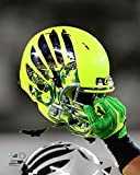 Oregon Ducks Football Helmet Spotlight Photo (Size: 8'' x 10'')