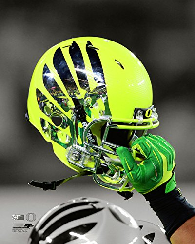NCAA Oregon Ducks Football Helmet Spotlight Photo (Size: 8