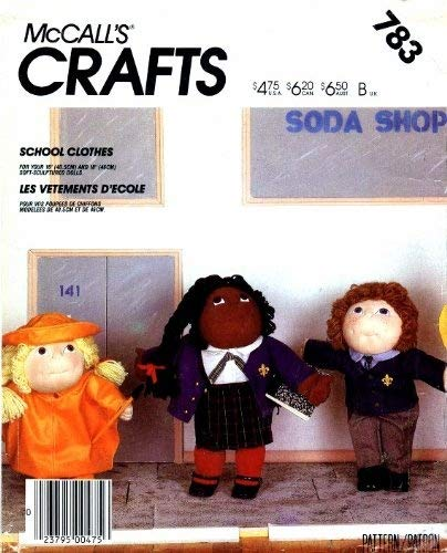 McCall's 783 Crafts Sewing Pattern Soft Sculpture Doll for sale  Delivered anywhere in USA