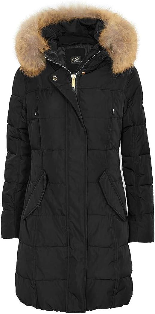 YES-ZEE O00AN100 - Chaqueta de plumón para mujer, talla S, color principal negro