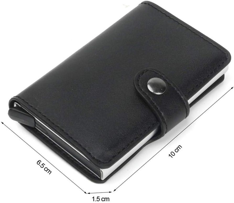 Color : Red Glqwe RFID Automatique Porte-Monnaie Carte de cr/édit Porte-Cas en Alliage daluminium Anti-d/émagn/étisation RFID Banque de Carte de cr/édit